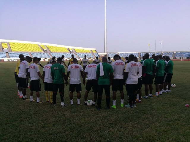 Headed by the returning captain Asamoah Gyan the nationalteam prepares for the Egypt clash