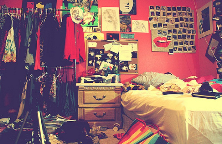 bad habits, a messy room